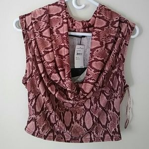 Woman's Crop Top, 8, Rose New w/tags